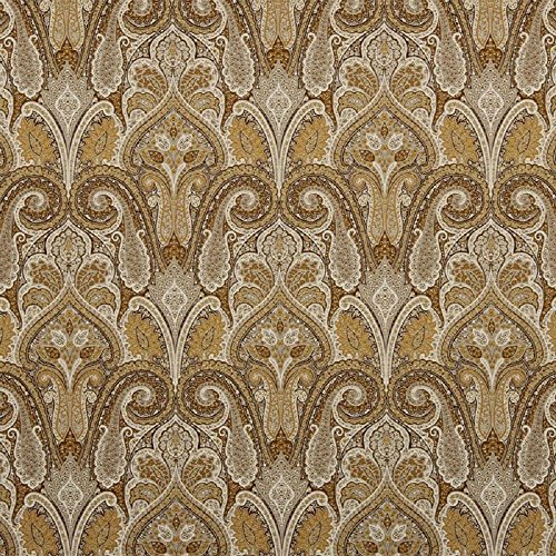 WAVERLY Fabric Upholstery Drapery Cashmere Butterscotch  Paisley EE21 ()