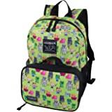 Jinx Minecraft Overworld Sprite Kids Backpack and Lunch Kit Combo (Green 16)