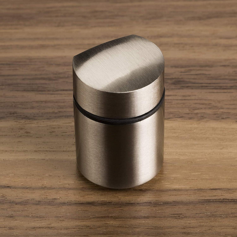 2 St/ück SO-TECH/® Bodentr/äger SHELFI Edelstahloptik Glasbodentr/äger Bodentr/äger