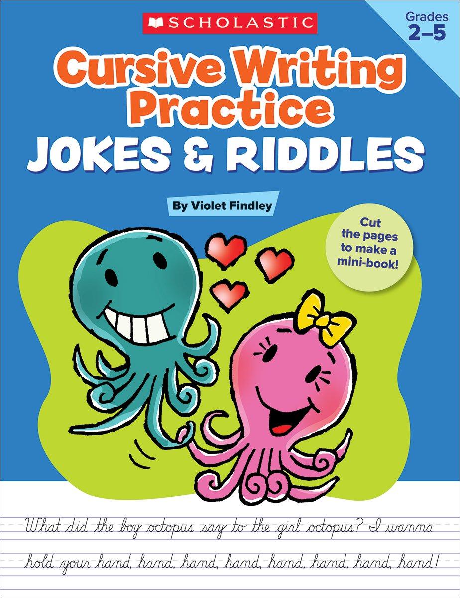cursive writing practice jokes riddles violet findley