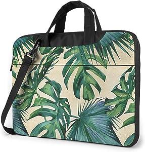 Green Banana Leaves Unisex Laptop Bag Messenger Shoulder Bag for Computer Briefcase Carrying Sleeve