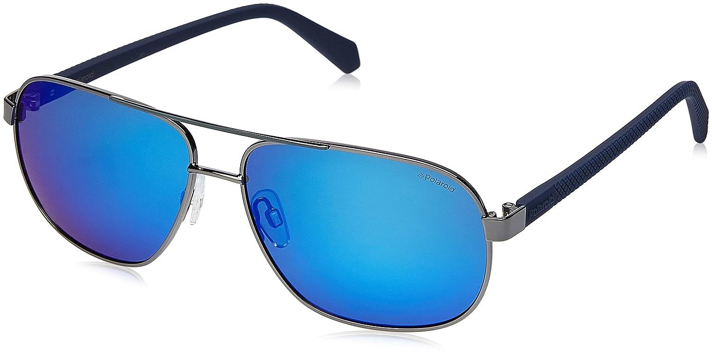 Polaroid Sunglasses Mens Pld2059s Polarized Square Sunglasses 60 mm DK RUTHEN