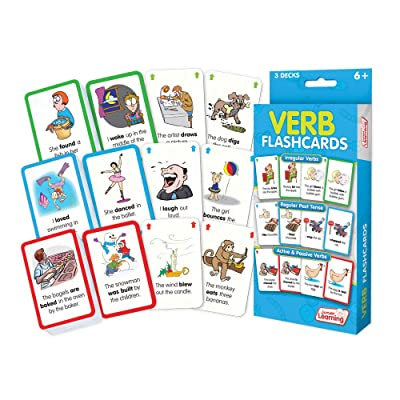 Junior Learning Verb Flashcards: Toys & Games