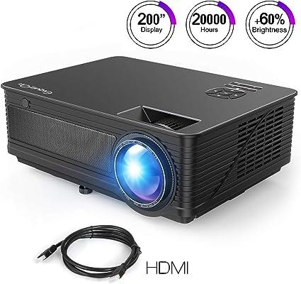 ExquizOn Proyector LCD de 3500 Lúmenes M5 Vídeo Proyector LED 200 ...