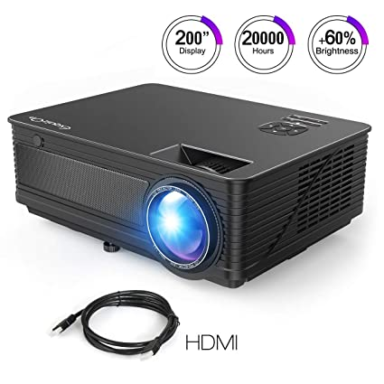 ExquizOn Proyector LCD de 3500 Lúmenes M5 Vídeo Proyector LED 200