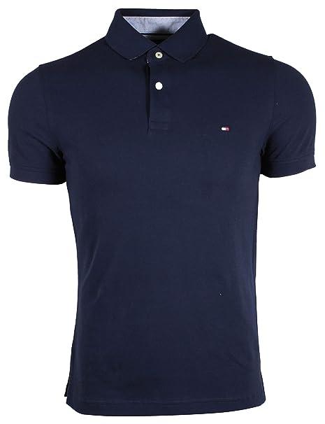 c66a1f39cf0 Tommy Hilfiger Camiseta tipo Polo Ajustado para Hombre  Amazon.es  Ropa y  accesorios