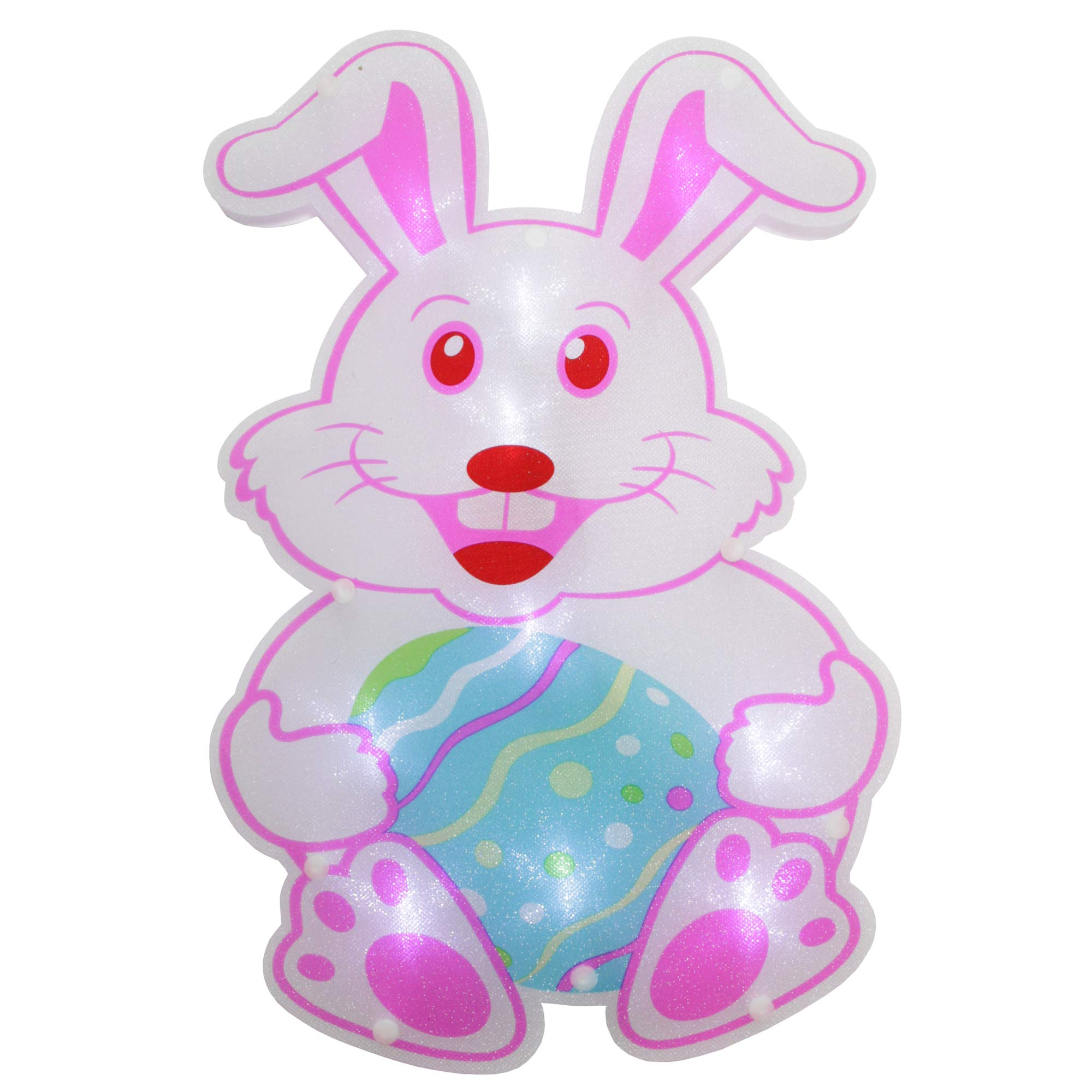 Northlight 13.75'' LED Lighted Easter Bunny Window Silhouette Decoration