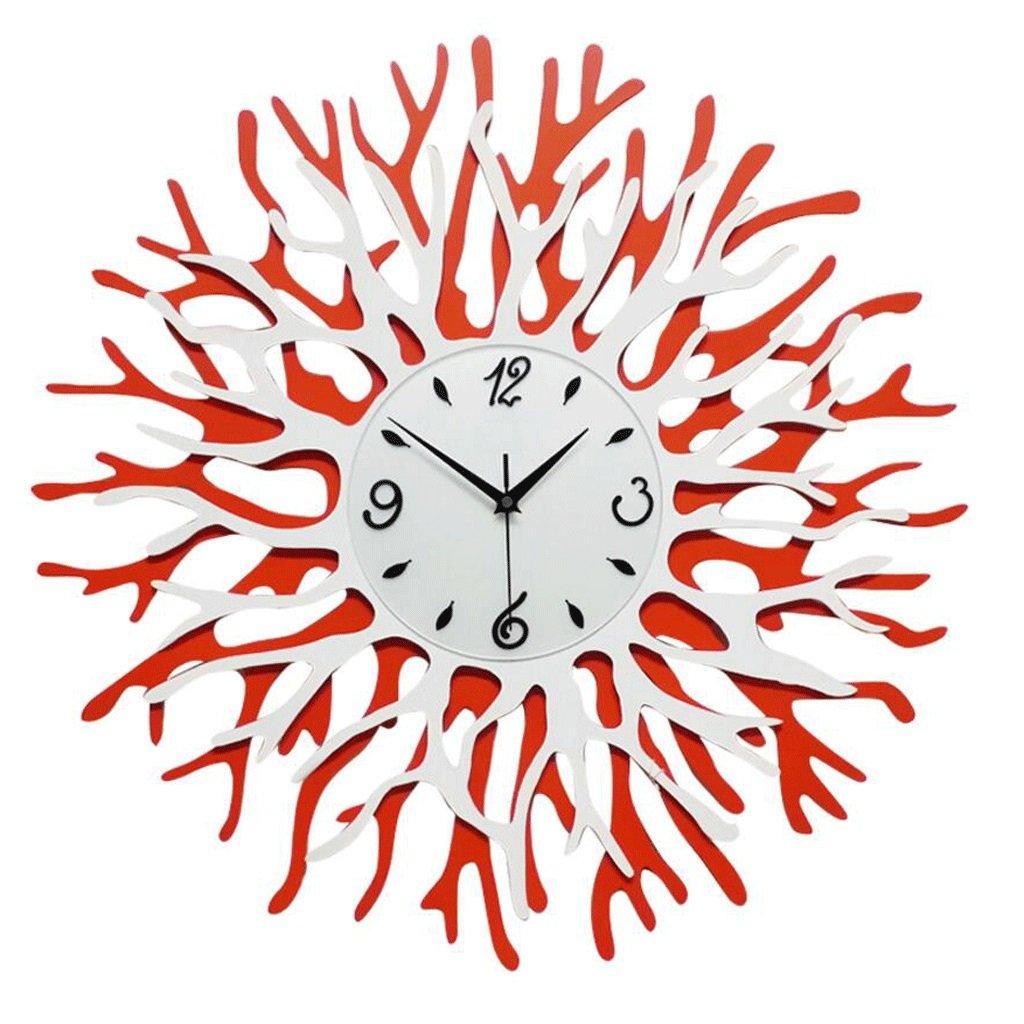 新しいセクションコーラルウォールクロックスタイリッシュな装飾的な壁時計クリエイティブな掛け時計 GAODUZI B07FKSLM36