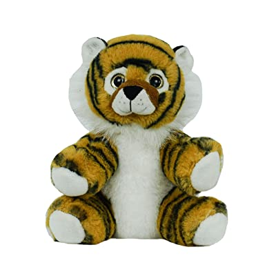 "BEARegards Personal Recordable Talking Teddy Bear 8"" Tiger with 20 sec Digital Recorder: Toys & Games"
