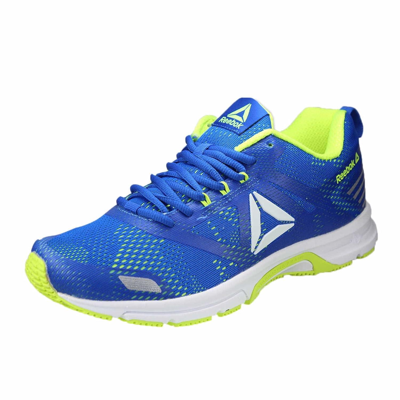 Reebok Ahary Runner, Zapatillas de Trail Running para Hombre 40.5 EU Multicolor (White/Bunker Blue/Solar Yellow 000)