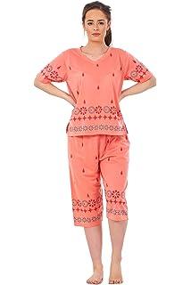 Ladies Pyjama Sets V Neck Nightwear 3 4 Shorts Printed Summer PJ s S(8 052ca1824