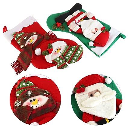 SUPVOX NICEXMAS Par De Papá Noel Calcetines De Navidad Reno Muñeco De Nieve Navidad Proveedores Árbol