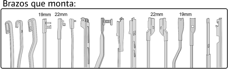 3210.0170530-1 Unidad Escobilla Limpiaparabrisas Flexible KSH Excellence 53 cm