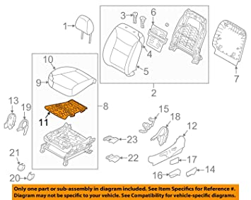 Amazon.com: Genuine Kia 88190 – 2p020 Cojín para asiento ...
