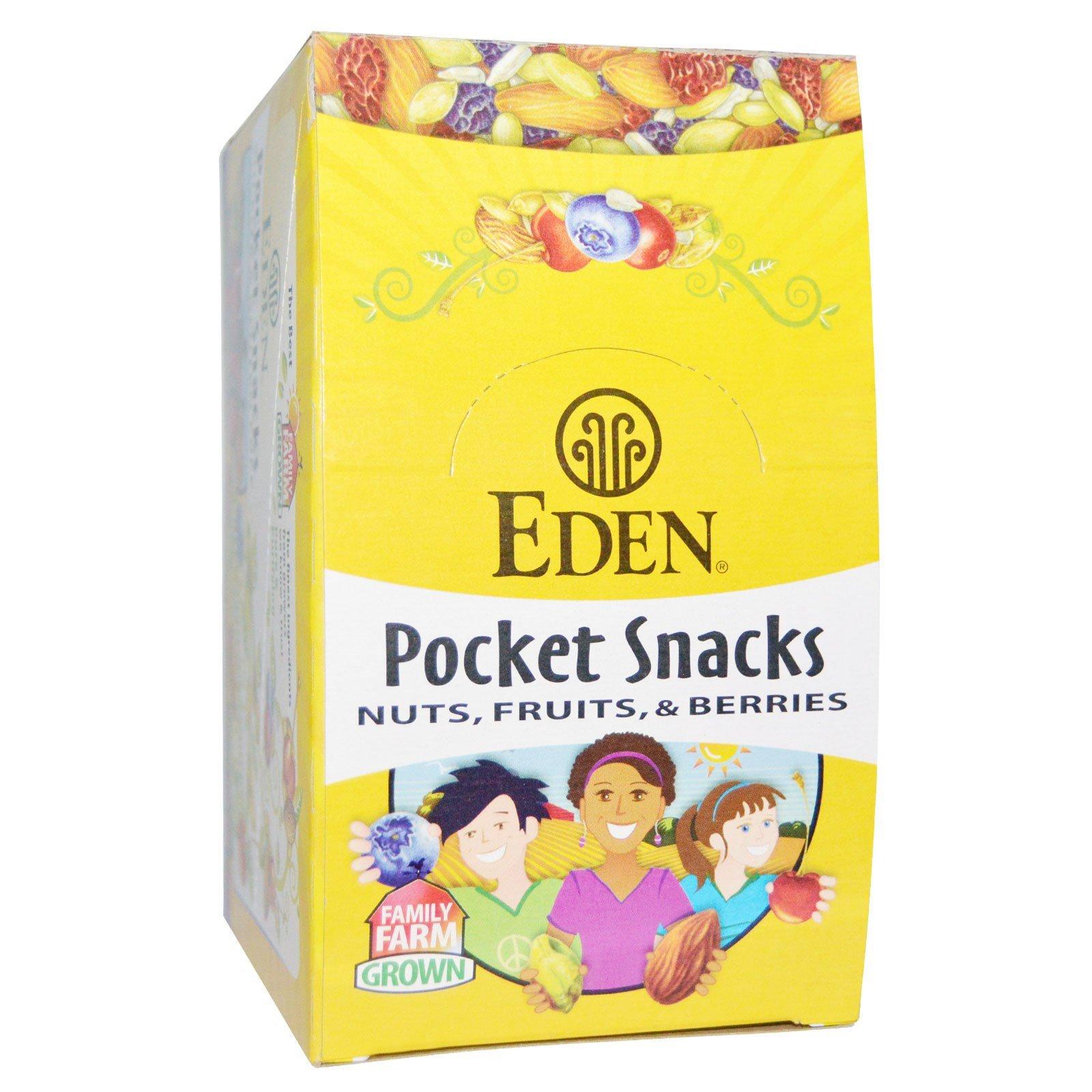 Eden Foods Organic Pocket Snacks Pumpkin Seeds Dry Roasted 12 Packages 1 oz 28 3 g Each