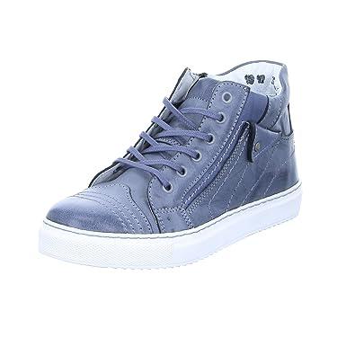 2054 Damen Sneaker Schnürer Halbschuh Sneaker-High Silber Grau (grey), Größe 36 Kristofer