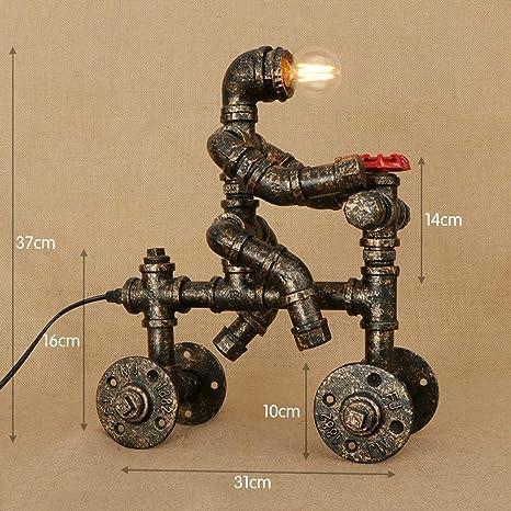 Estilo Vintage Industrial Moho del hierro del tubo de agua lámpara ...