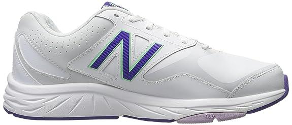 New Balance Women's WX824 Cross-Trainer-Shoes White/Deep Violet 8 B US