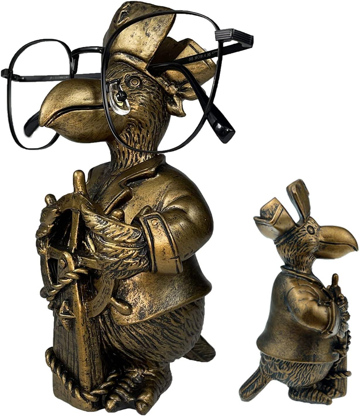 UOYEET Eyeglass Holder Stand, Handmade Decorative Eye Glasses Holders for Desk, Eyeglasses Accessories Organizer for Home Office