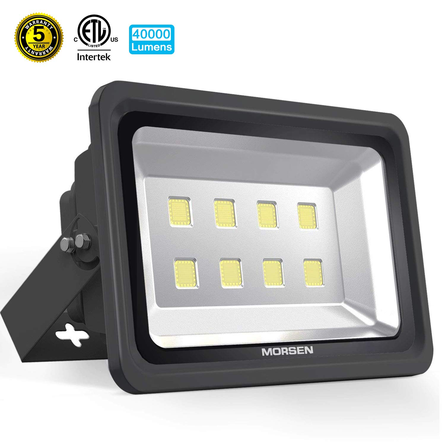 Morsen LED Flood Light 400W, IP65 Waterproof Indoor Outdoor 6000K Super Bright Security Wall Light for Garden, Basketball Football Court, Parking Lot, Playground, Lanscape by MORSEN