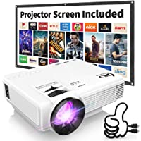 $58 » DR. J Professional HI-04 1080P Supported Portable Movie Projector, 3600L Mini Projector…