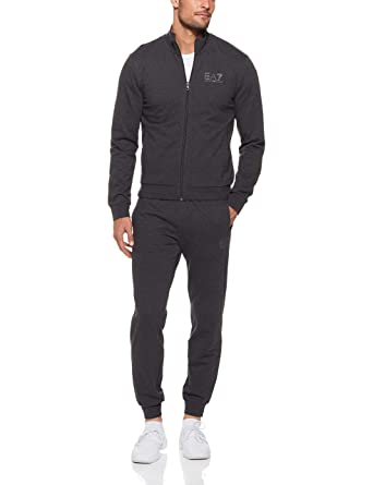 ff690c016 Emporio Armani EA7 Black Zip Up Cotton Tracksuit 6ZPV51 PJ05Z:  Amazon.co.uk: Clothing