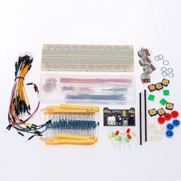 amazon com professional basic electronic kit breadboard resistors
