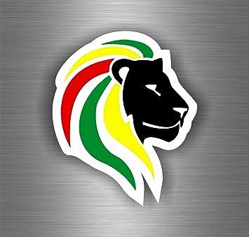 Akachafactory Selbstklebend Sticker Auto Rasta Reggae One Love Löwe Jamaikanische Flagge Ref12 Auto