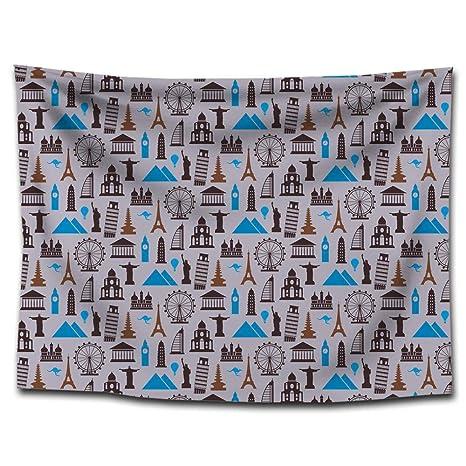 Axiba Tapices, Tapiz de poliéster impresión Multifuncional Colgante paño Sentado Toalla de Playa de Manta