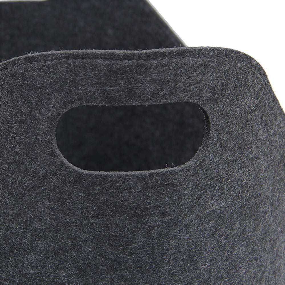 SZFREE Filzkorb f/ür Kaminholz Aufbewahrungstasche gro/ße Kapazit/ät faltbar 39 x 22 x 34 cm Filz Handtasche schwarz Kamintasche mit Griff Einkaufstasche