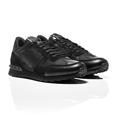 865b5593f2899 Valentino Black Rockrunner Camouflage-Print Sneakers (8 UK): Amazon ...