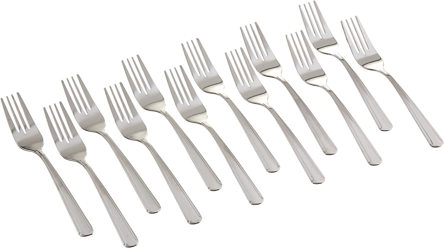 Winco 0001-06 12-Piece Dominion Salad Fork Set, 18-0 Stainless Steel