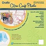 """Grafix Craft Plastic Sheets 12""""X12"""" 4/Pkg-Clear .020"""