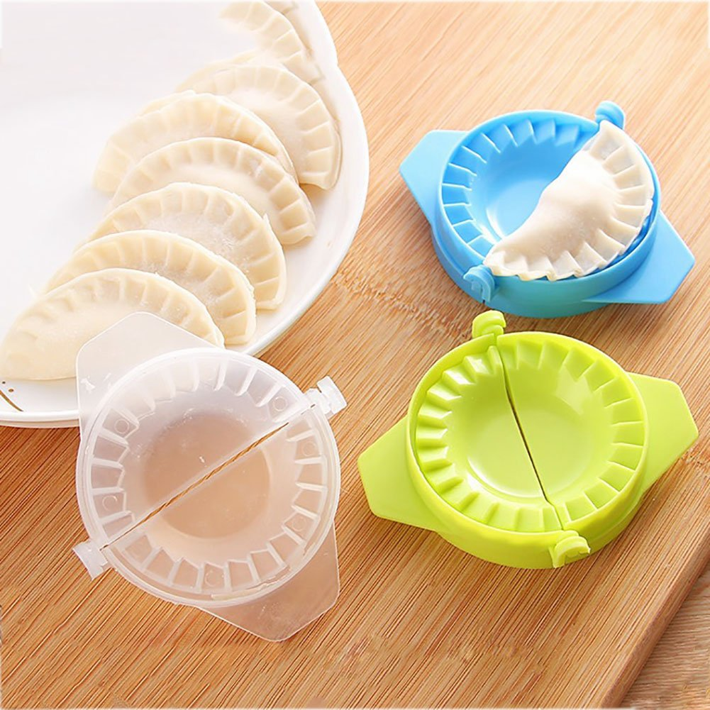 3 Pack Dumplings Maker Plastic Cooking Tools Manual Press Ravioli Dough Pastry Pie Dumpling Mould AXROAD MALL