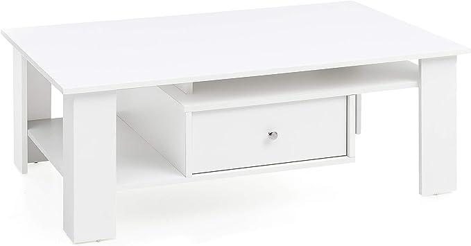 Finebuy Design Couchtisch Fb13580 Holz 105x39 5x67 5 Cm Weiss Matt