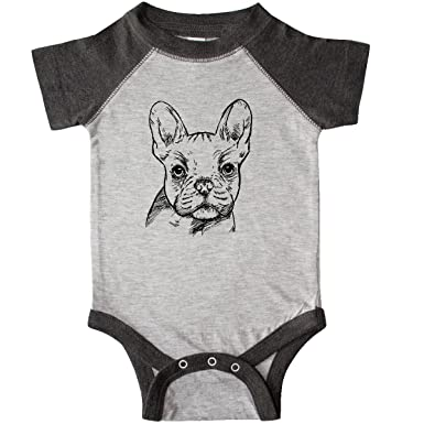 833cc30ac inktastic - French Bulldog Infant Creeper Newborn Heather and Smoke 2a71a