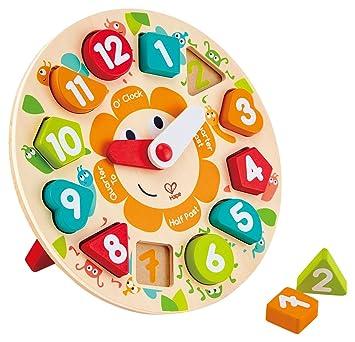 E1622A 時計パズル 木のおもちゃ 対象年齢3歳から 【送料無料】