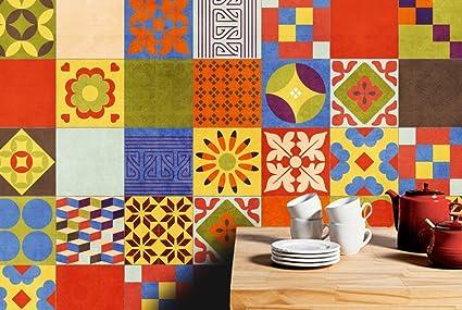Adesivi per piastrelle confezioni con 90 piastrelle 15 x 15 cm