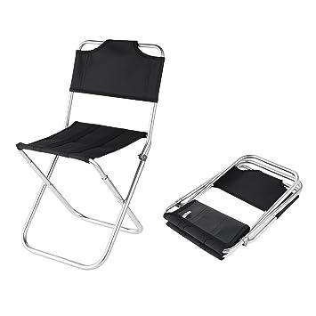 OUTAD Mini Oxford Silla Portátil Plegable de Aluminio -Taburete Asiento para Camping Pesca
