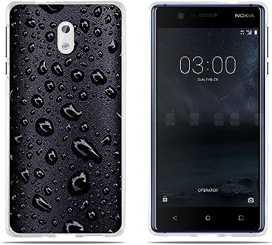 FUBAODA, Funda para Nokia 3 Carcasas Protección Gona, Dibujo Clásico de Gota de Agua Negra [Resiste a los Arañazos] [Antipolvo] Carcasas para para Nokia 3: Amazon.es: Electrónica