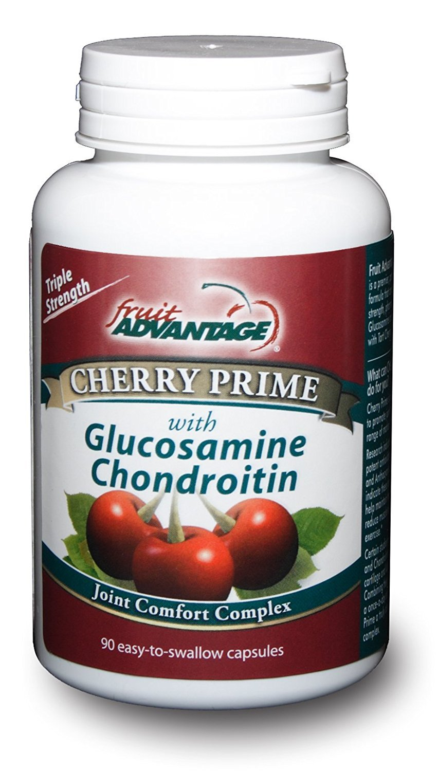 Fruit Advantage Cherry Prime Montmorency Tart Cherry Extract with Glucosamine & Chondroitin - 90 Capsules (6-Pack)