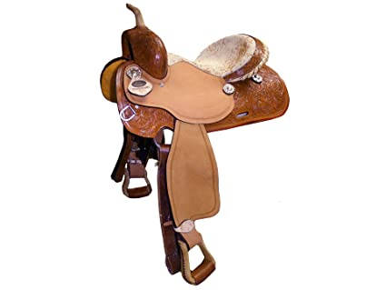Tahoe Western Barrel Saddle Cow Print