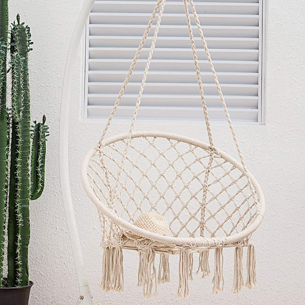 Hanging Chairs Outdoor Egg Chair Swinging Chair Chair Hammock Indoor Hammock Bedroom Decor For Teen Girls Teen Girl Room Decor Living Room Chairs Chair For Bedroom Size With Accessories Amazon Co Uk Kitchen