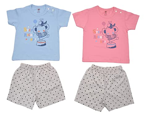 b34d2f3c2 Zero Baby Clothing Set, 100% Cotton, Pack of 2, Size: 3-6 Months ...