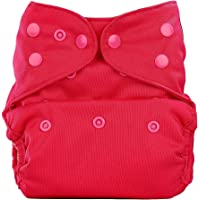 Bumberry Reusable Diaper Cover and 1 Natural Bamboo Cotton Insert (Rose Pink)