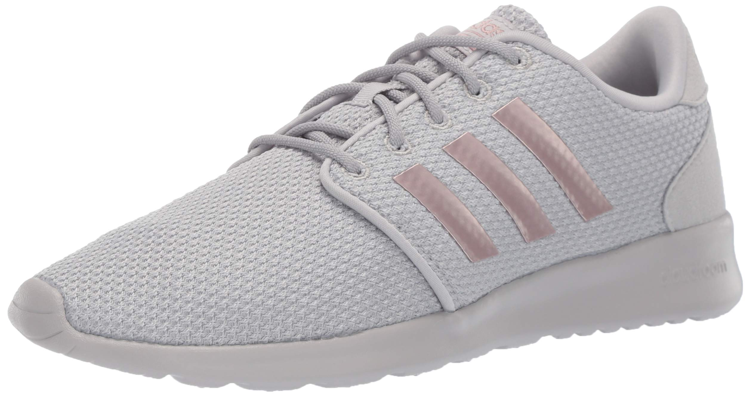 adidas Women's Cloudfoam QT Racer, Light Granite/Copper Metallic/Grey, 11 M US by adidas