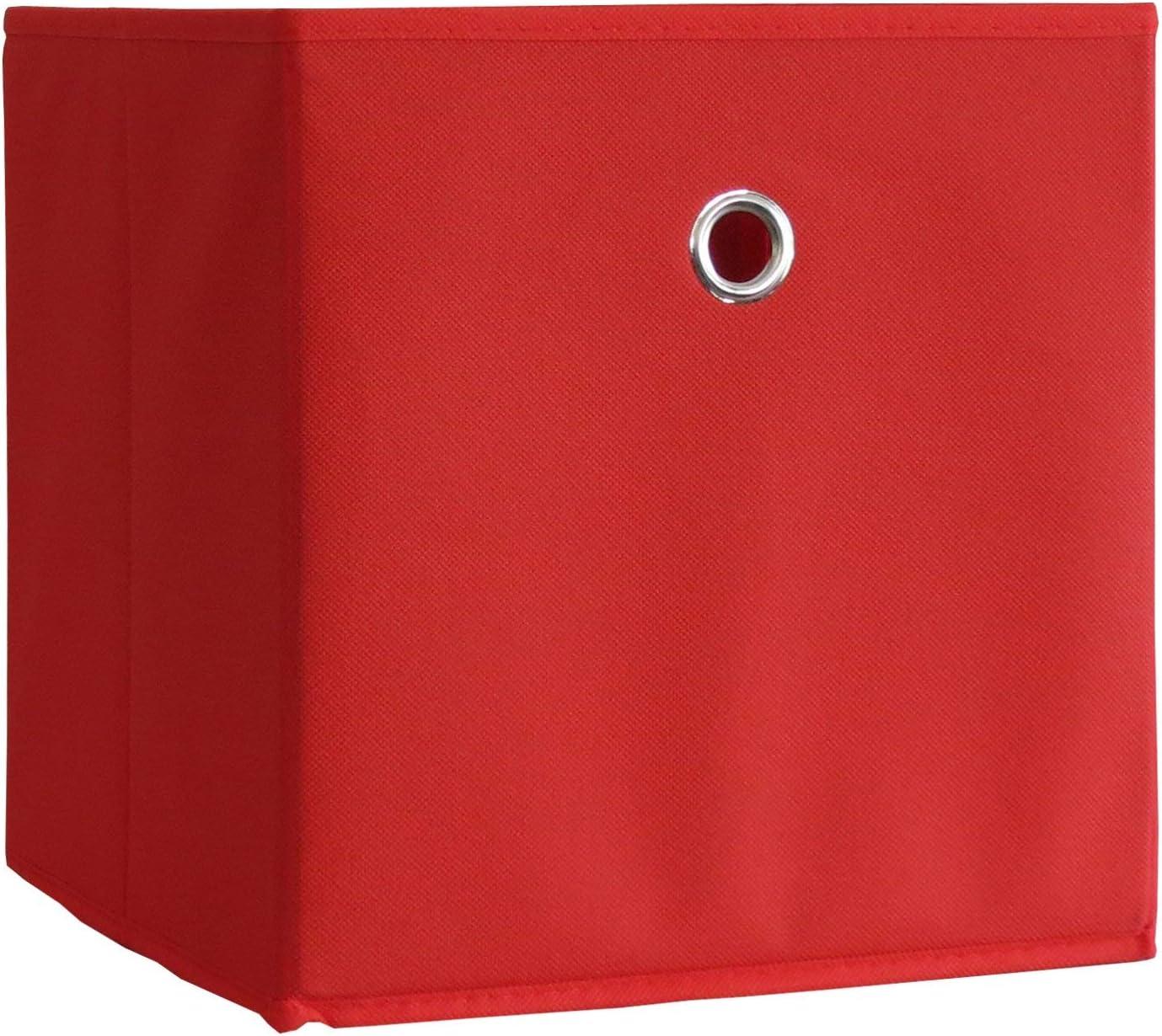 VCM 2er Set Faltbox Klappbox Sammelbox Stoffbox Regalbox Regalkorb Korb ohne Deckel 28 x 27 x 27 cm Orange Boxas
