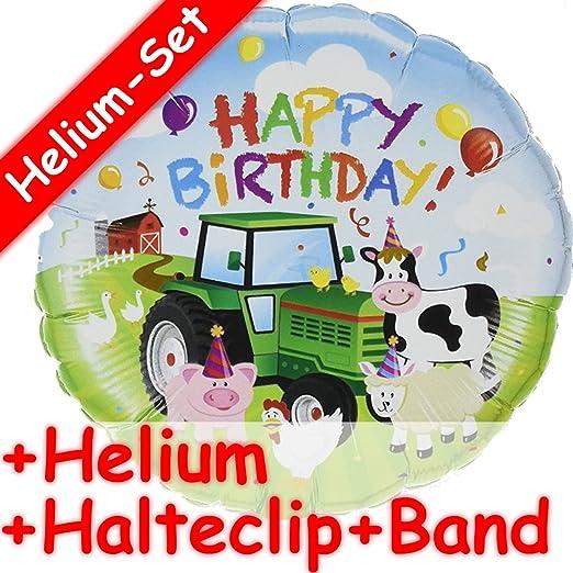 Globo * Happy Birthday * Animales Granja + Helium Relleno + ...