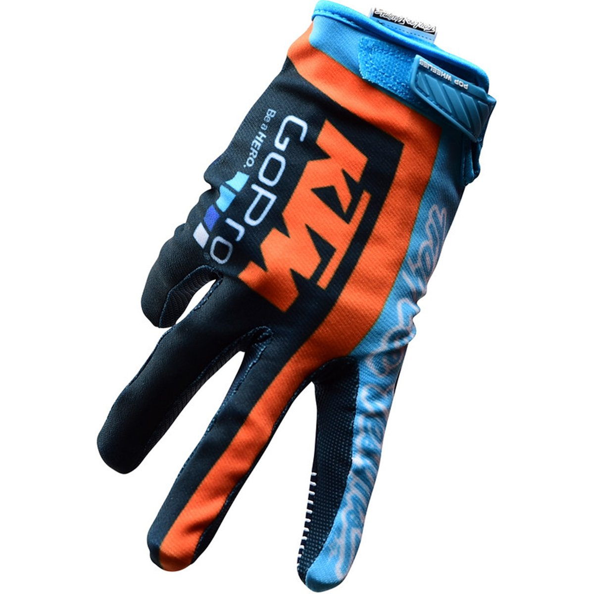 Troy Lee Designs KTM Team Licensed Air Men's Bike Sports BMX Gloves - Navy/Cyan / Small