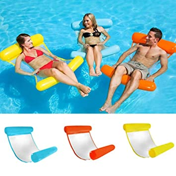 Boofab Water Lounger Hammock Pool Float Inflatable Rafts Swimming Pool Air  Lightweight Floating Chair...